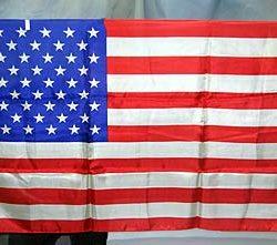 50 Star U.S. Flag Silk (Rice)