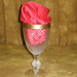 Diamond Cut Mirror Goblet