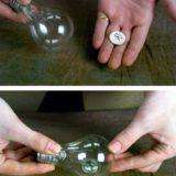 Coin/Ring In Light Bulb (Vanni Bossi)