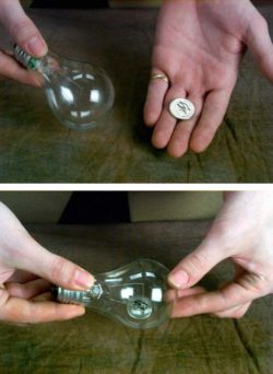 Coin/Ring In Light Bulb (Vanni Bossi)