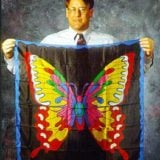 Butterfly-Patterned Silk (36-inches)