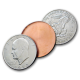 Expanded Eisenhower Dollar Shell Heads