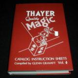 Thayer Quality Magic Catalog Instruction Sheets, Volume 4 (Book)