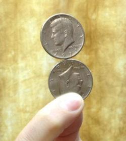 Spinning Stacked Half Dollars - SME