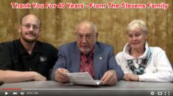 40 Year Anniversary - Stevens Magic - Thank You
