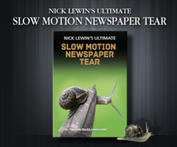 Ultimate Slow Motion Newspaper Tear - Nick Lewin