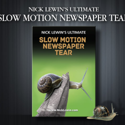 Ultimate Slow Motion Newspaper Tear - Nick Lewin
