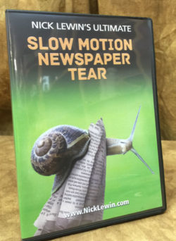 Slow Motion Newspaper Tear - Nick Lewin