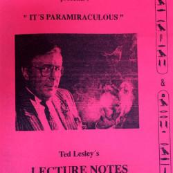 Ted Lesley Lecture Notes