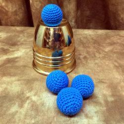 Blue Balls Crocheted