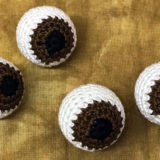 Crocheted Eye Balls Brown