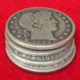 Barber Coins 5 Coin Set