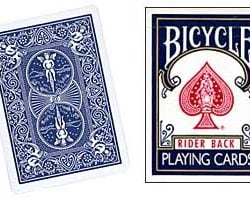 Double Back Bicycle Blue Deck
