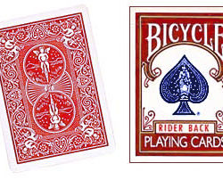 Double Back Bicycle Card Red