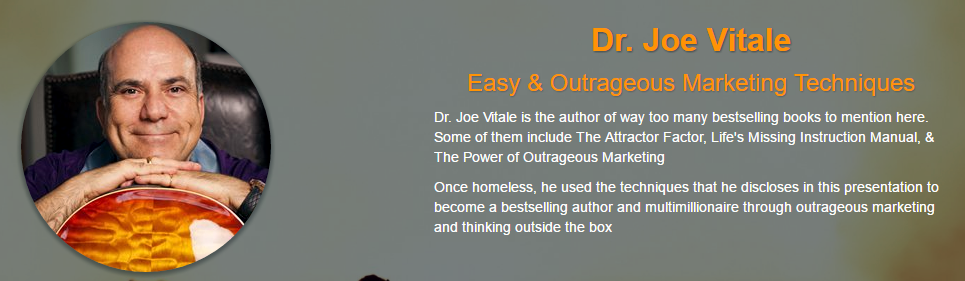 Joe Vitale - Dave Womach