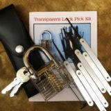 Transparent Lock Picking Kit