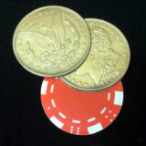 Triple Split Poker Chip Morgan Coin Set