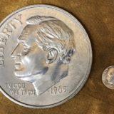 Jumbo 3 Inch Dime Coin