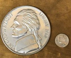 Jumbo 3 Inch Nickel Coin