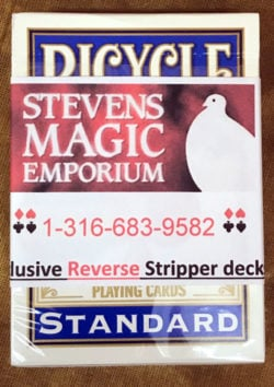 Reverse Stripper Card Deck
