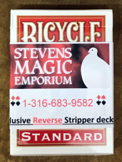 Reverse Stripper Card Deck Red