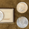 Multiple Shells and Coin Set – 1964 Silver Kennedy Half Dollar - Kreis