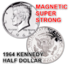 Super Strong Magnetic Half Dollar - 1964 - Kreis