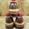Segmented Wood Cups & Balls - Estate - EXCELLENT