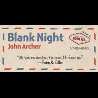 Blank Night (Blue) by John Archer