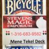 Mene Tekel Deck - PREMIUM SME Private Brand - Blue