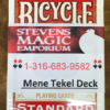 Mene Tekel Deck - PREMIUM SME Private Brand - RED