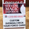 Svengali Deck - Custom Key Card - RED Bicycle Poker