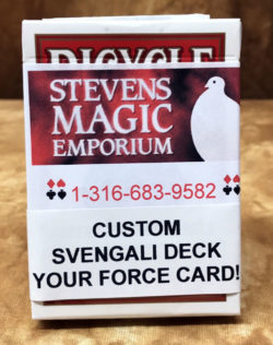Custom Svengali Deck Red Back