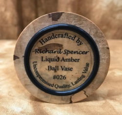 Liquid Amber Ball Vase - Richard Spencer #26