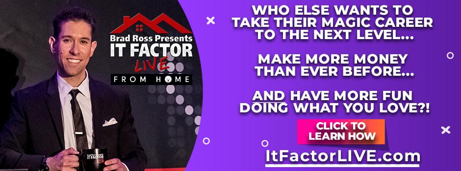 Brad Ross It Factor LIVE
