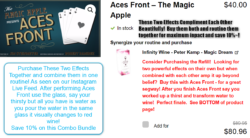 Aces Front and Infinity Wine Combo Routine