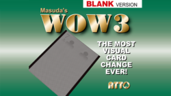 WOW 3.0 Blank (Gimmick and Online Instruction) by Masuda