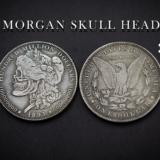 MORGAN SKULL HEAD COIN