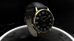 Infinity Watch V3 - Gold Case Black Dial / STD Version (Gimmick and Online Instructions) by