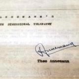 Annemann's Fourth Dimensional Telepathy Manuscript - Autographed