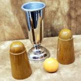 Cone, Vase, Orange and Beans - Magic Trick